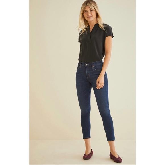 Agolde Denim - AGOLDE Amour Vert Exclusive Sophie Crop Jeans